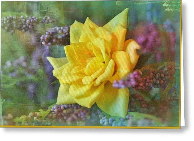 September Rose Greeting Card by Kathy Bucari