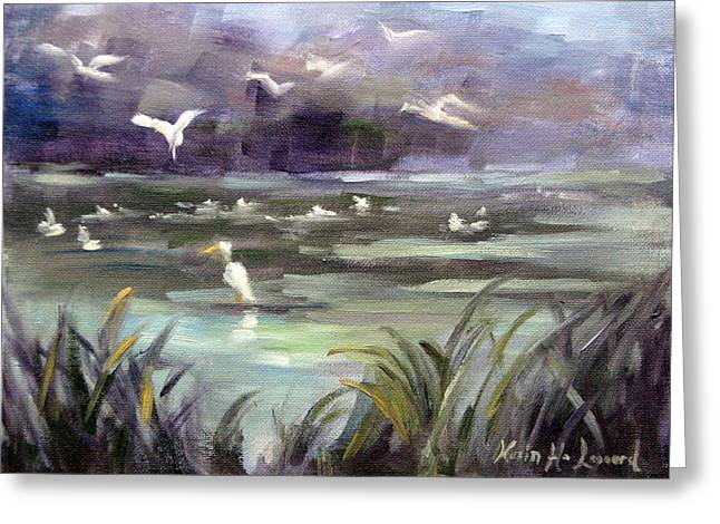 September Slough Greeting Card by Karin  Leonard