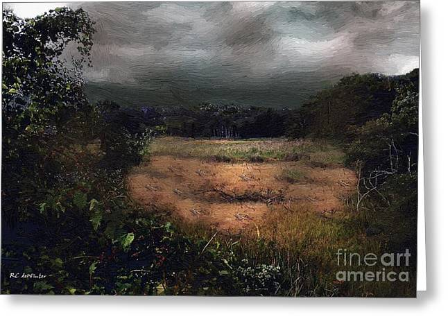 Field. Cloud Greeting Cards - September Storm Greeting Card by RC deWinter
