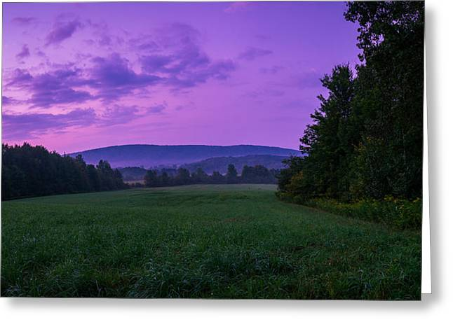 Field. Cloud Greeting Cards - September Twilight Greeting Card by Chris Bordeleau
