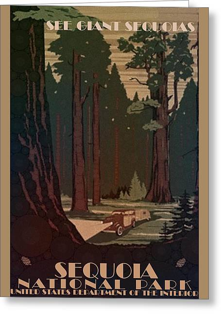 Sequoia National Park Greeting Cards - Sequoias Greeting Card by Steven Boland