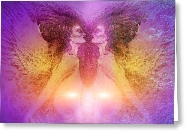 Seraphim Angel Paintings Greeting Cards - Seraphim Greeting Card by Ragen Mendenhall