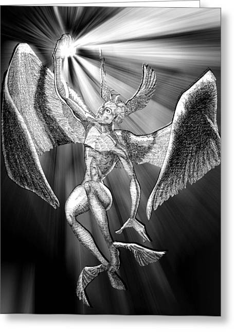 Seraphim Angel Greeting Cards - SeraphimInk Greeting Card by Zachary Rhoades