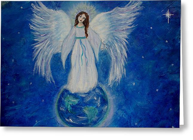Angel With Star Greeting Cards - Seraphina Greeting Card by The Art With A Heart By Charlotte Phillips