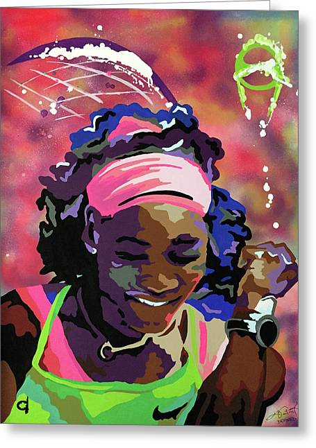 Serena Greeting Card by Chelsea VanHook