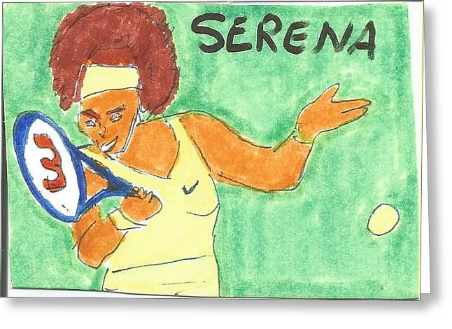 Serena Greeting Card by RJ McHatton
