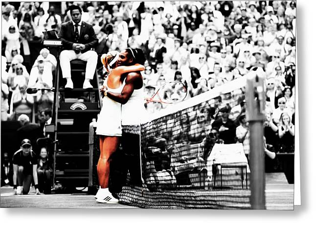 Serena Williams And Angelique Kerber 1a Greeting Card by Brian Reaves