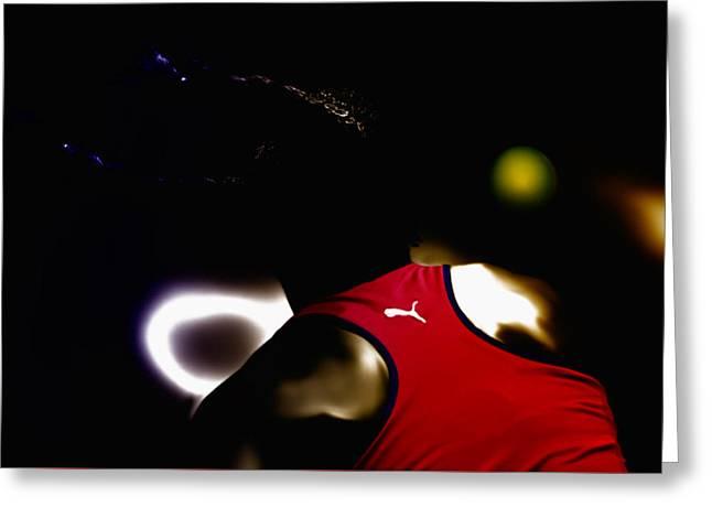 Navratilova Greeting Cards - Serena Williams Doing It Greeting Card by Brian Reaves