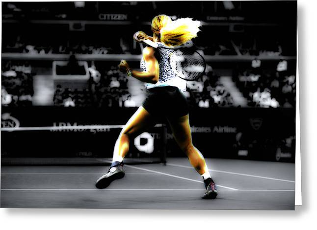 Serena Williams Greeting Cards - Serena Williams Taking Over Greeting Card by Brian Reaves