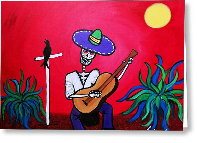 Turkus Greeting Cards - Serenata Painting Greeting Card by Pristine Cartera Turkus