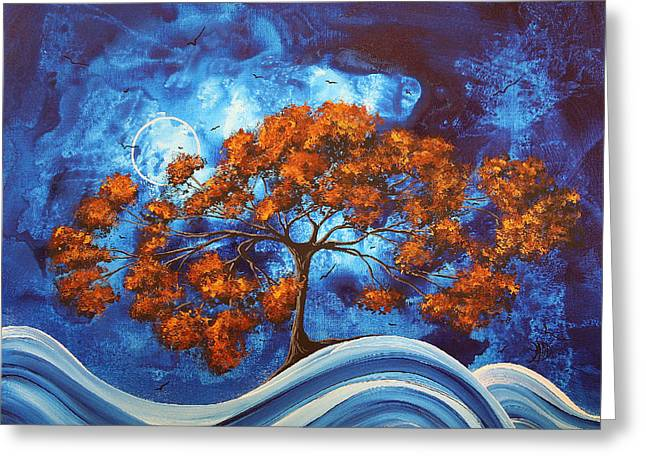 Buy Fine Greeting Cards - SERENDIPITOUS Original MADART Painting Greeting Card by Megan Duncanson
