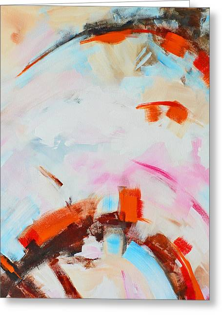 Serendipity No. 2 Abstract Painting Greeting Card by Patricia Awapara