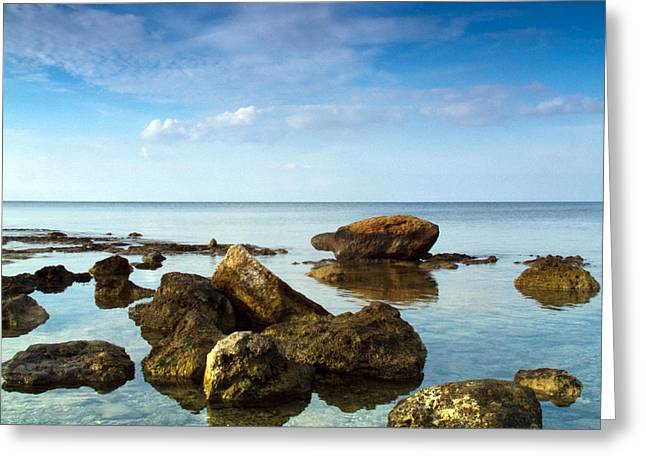 Ocean Images Greeting Cards - Serene Greeting Card by Stylianos Kleanthous
