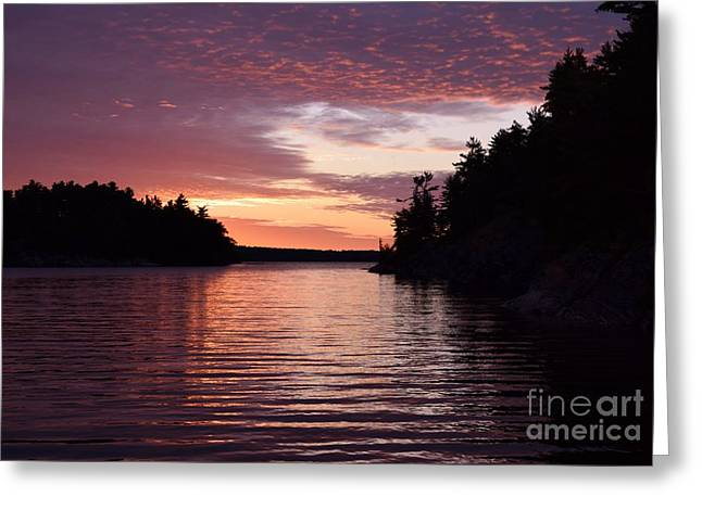 Ocean Images Greeting Cards - Serene Sunrise Greeting Card by Sharon Patterson