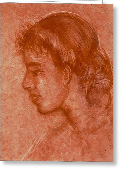 Wife Pastels Greeting Cards - Serene Susan Greeting Card by John Robinson