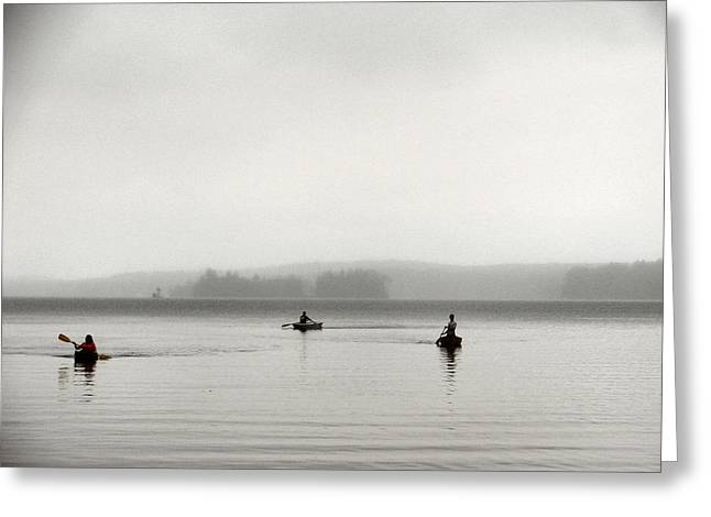 Canoe Greeting Cards - Serenity 3 Greeting Card by Dana Patterson
