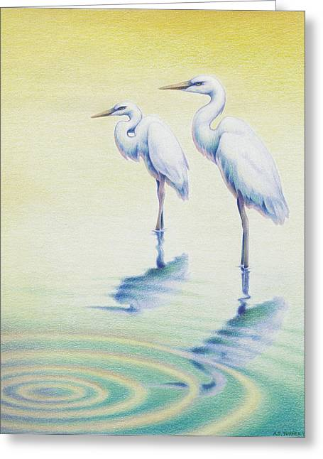 Amy S Turner Greeting Cards - Serenity Greeting Card by Amy S Turner