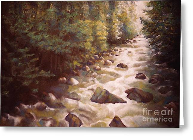 Artist Curtis James Art Pastels Greeting Cards - Serenity Greeting Card by Curtis James