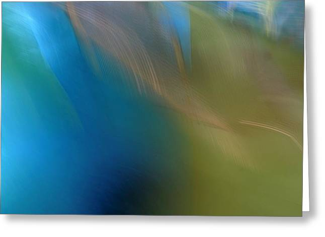 Blue Abstracts Greeting Cards - Serenity Greeting Card by Denise Clark