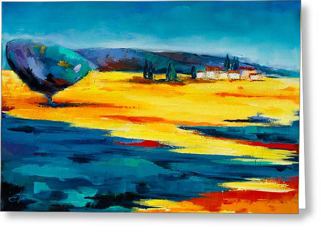 South France Greeting Cards - Serenity Greeting Card by Elise Palmigiani
