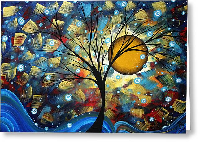 Abstract Original Art Greeting Cards - Serenity Falls by MADART Greeting Card by Megan Duncanson
