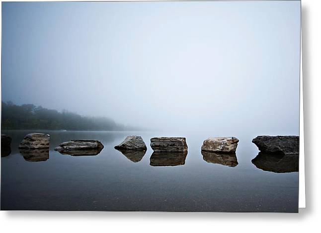 Serenity In Color Greeting Card by Lisa Walsh