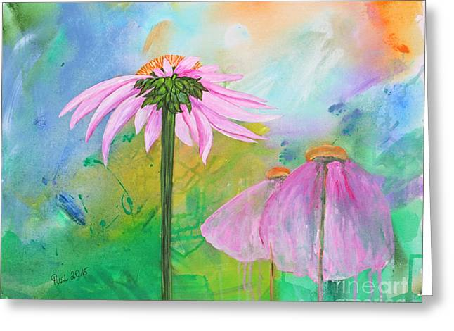 Plant Stretched Canvas Greeting Cards - Serenity Greeting Card by Jutta Maria Pusl