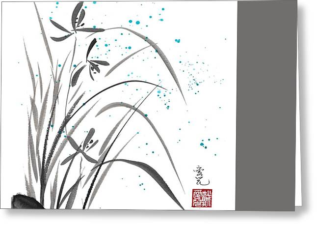 Inkwash Greeting Cards - Serenity Greeting Card by Oiyee  At Oystudio