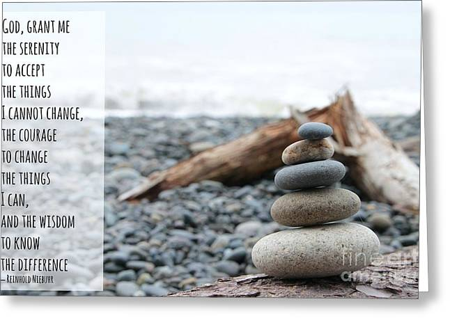 Reinhold Niebuhr Greeting Cards - Serenity Prayer Greeting Card by Beth Buelow