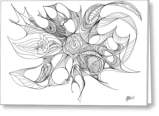 Serenity Swirled Greeting Card by Charles Cater