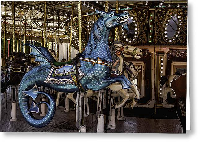 County Fair Greeting Cards - Serpent Carrosul Ride Greeting Card by Garry Gay