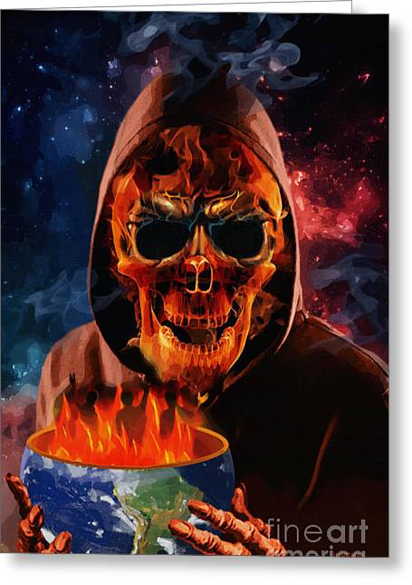 Hoodies Digital Art Greeting Cards - Served Up Hot Greeting Card by Joseph Juvenal
