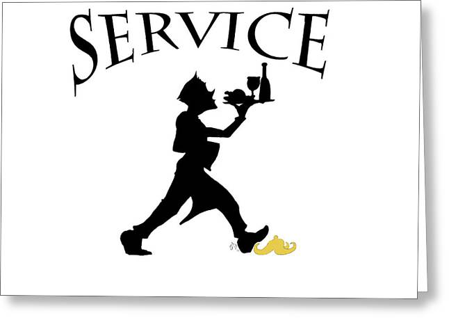Service Greeting Card by Jam