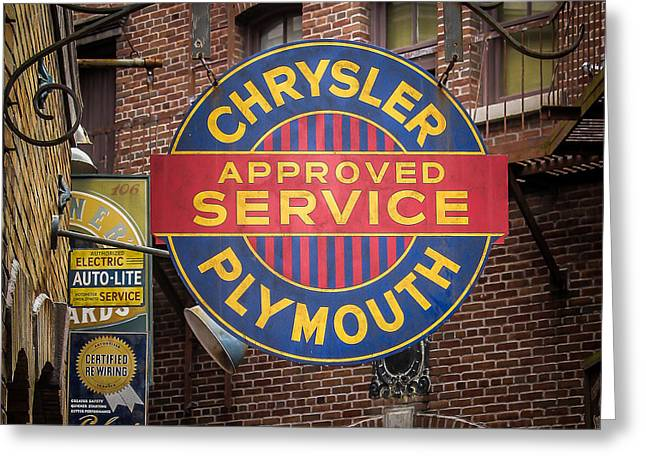 Store Fronts Greeting Cards - Service Sign Greeting Card by Perry Webster