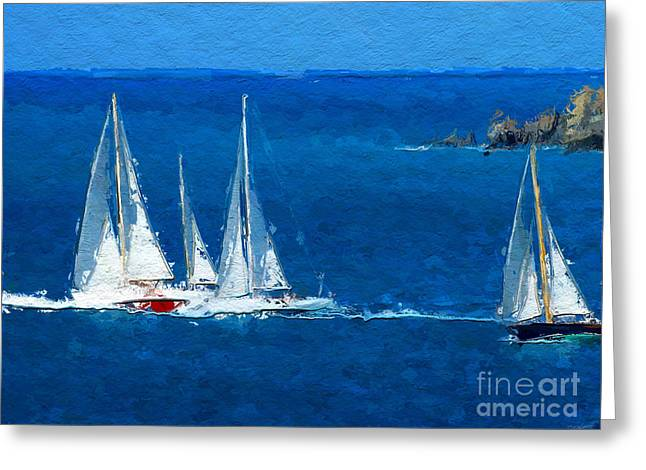 Set Sail Greeting Card by Anthony Fishburne