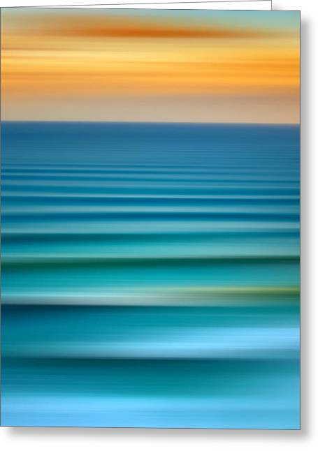 Abstract Waves Greeting Cards - Sets Greeting Card by Az Jackson