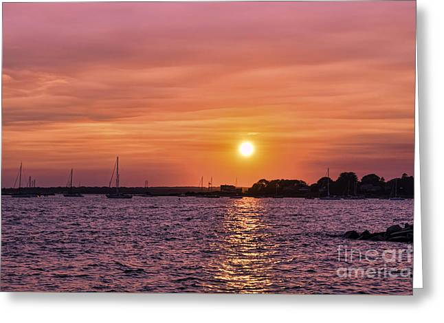 Ocean Images Greeting Cards - Setting On Summer Greeting Card by Joe Geraci