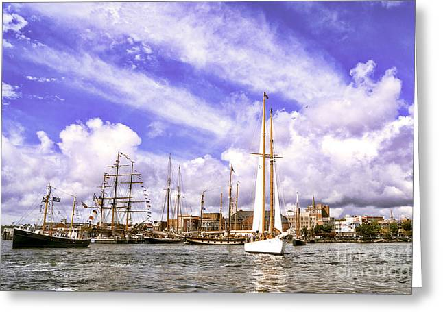 New England Ocean Greeting Cards - Setting Out To The Sound Greeting Card by Joe Geraci