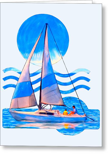Ocean Sailing Greeting Cards - Setting Sail Greeting Card by Mark E Tisdale