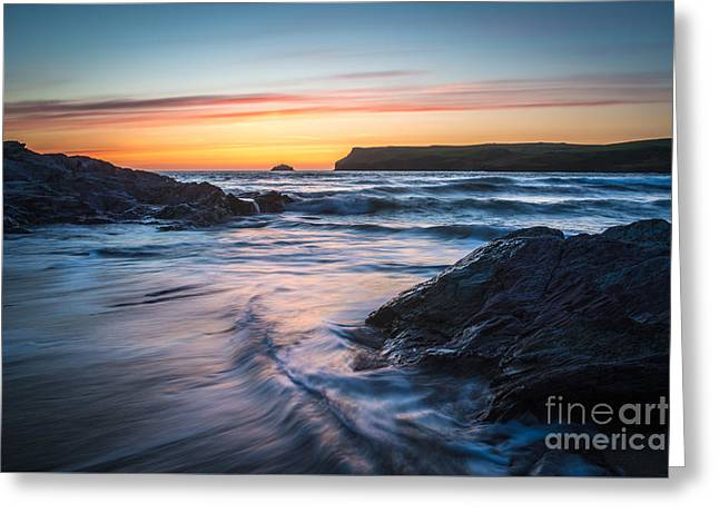 Lapping Greeting Cards - Setting Sun Greeting Card by Amanda And Christopher Elwell