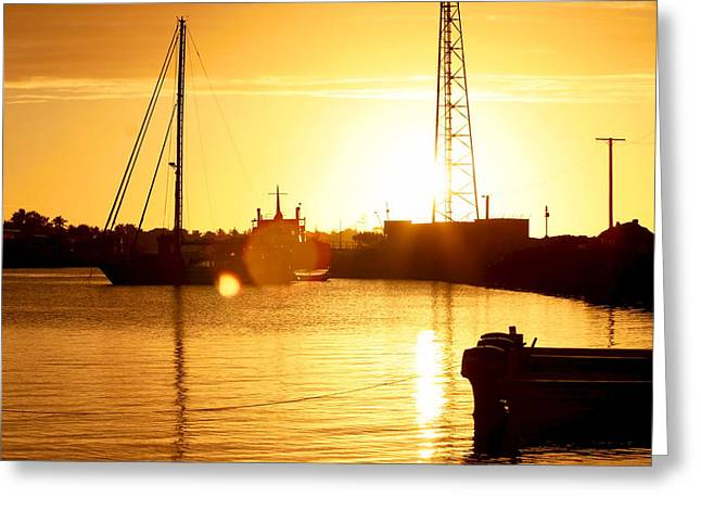 Unset Greeting Cards - Setting sun in Toga Greeting Card by James Allison