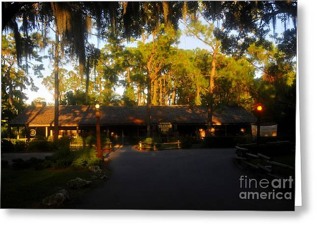 Lake Buena Vista Greeting Cards - Settlement Trading Post Greeting Card by David Lee Thompson