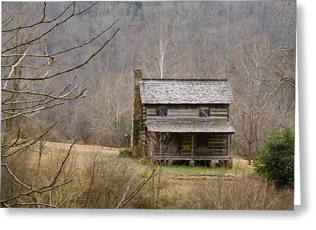 Settler Greeting Cards - Settlers Cabin in Cades Cove Greeting Card by Douglas Barnett