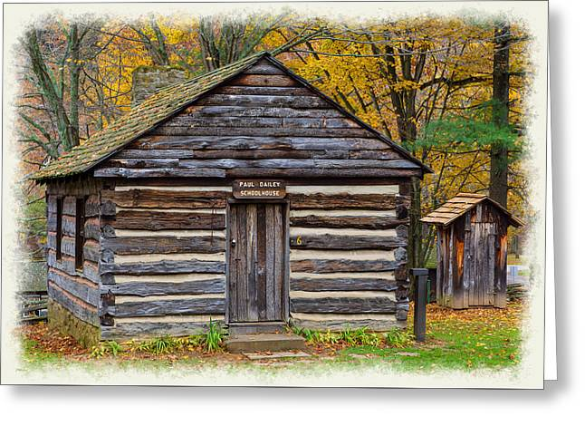 Fishing Creek Greeting Cards - Settlers Schoolhouse Greeting Card by John Bailey