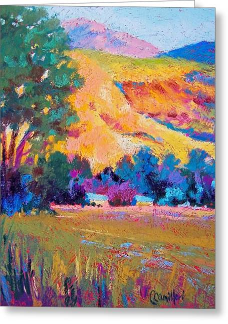 Farming Pastels Greeting Cards - Settling Down Greeting Card by Christine  Camilleri