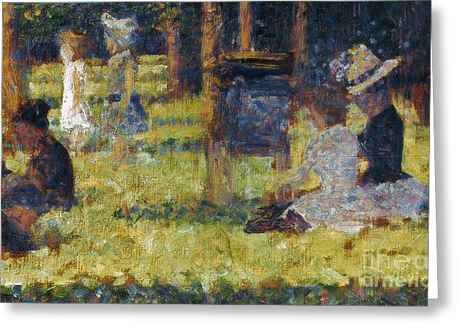Grande Jatte Greeting Cards - Seurat: Grande Jatte, 1884 Greeting Card by Granger