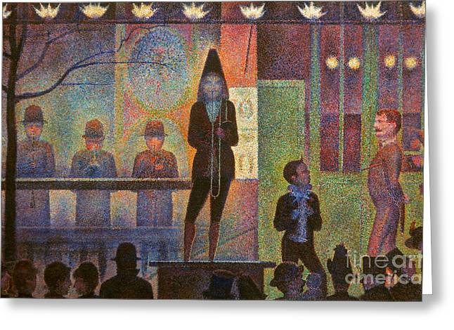 Seurat Greeting Cards - Seurat: La Parade Greeting Card by Granger