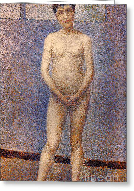 Seurat Greeting Cards - SEURAT: MODEL, c1887 Greeting Card by Granger