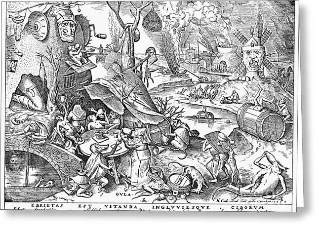 Damned Greeting Cards - Seven Deadly Sins, 1557 Greeting Card by Granger