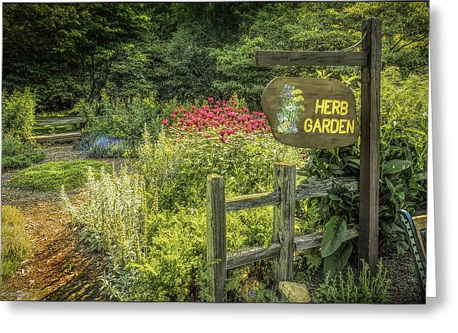 Seven Ponds Nature Center Herb  Garden Greeting Card by LeeAnn McLaneGoetz McLaneGoetzStudioLLCcom